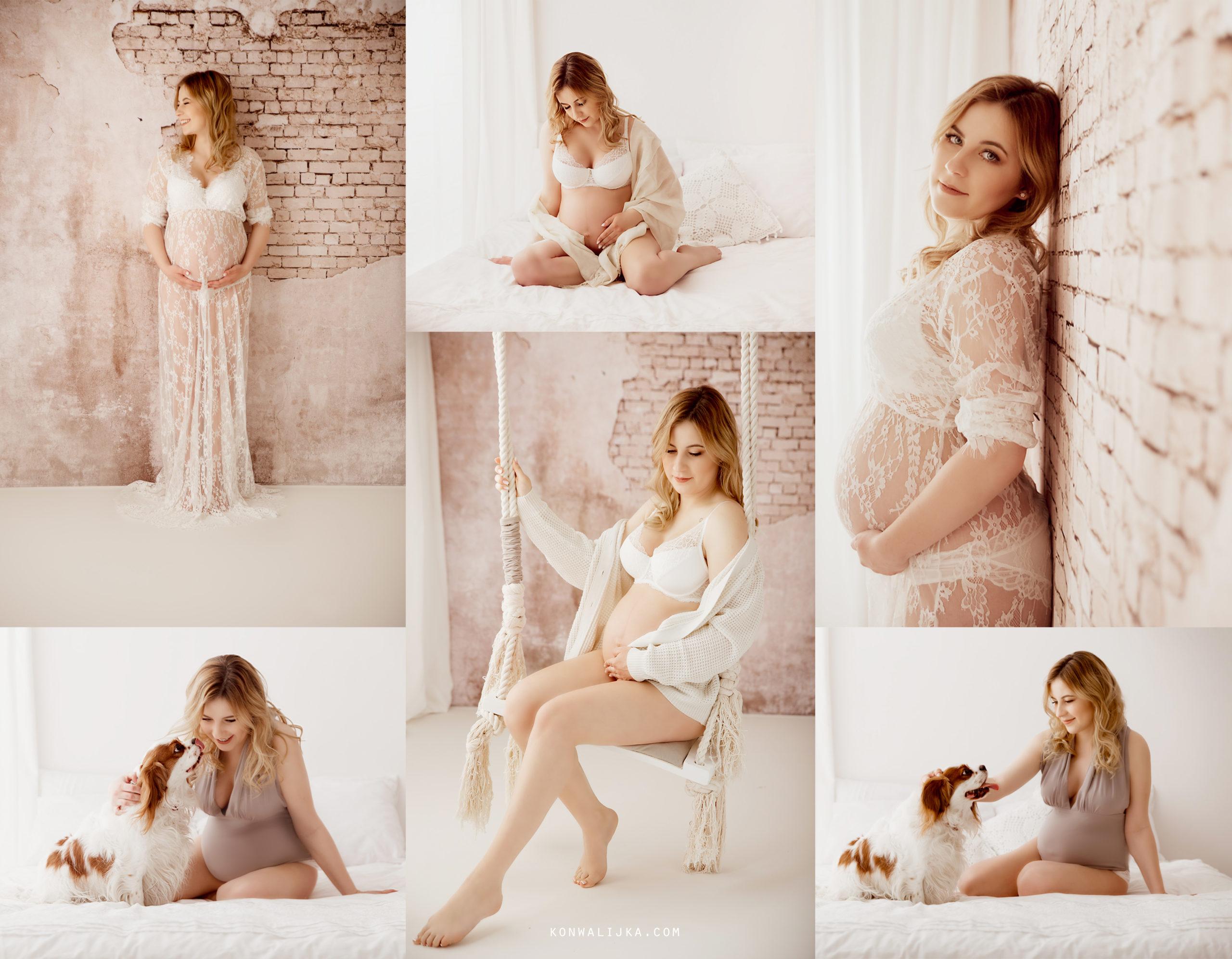 Naturalna sesja ciążowa Agnieszki w stylu boho – Sanok
